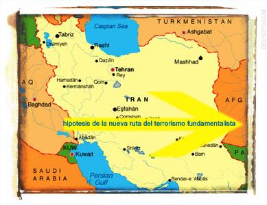 La nueva ruta del terrorismo wahabista