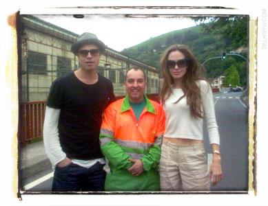 Angelina Jolie, Brad Pitt y el barrendero de Castrejana, Bilbao