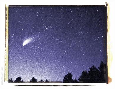 Cometa Halebop, 1997, foto de Fede Merino